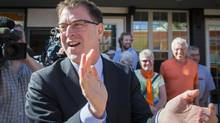 B.C. NDP Leader Adrian Dix at a campaign stop in Summerland, on May 8, 2013. (John Lehmann/The Globe and Mail)