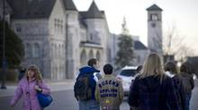 Queen's University students are objecting to a city council decision that shrinks the number of counsellors. (Kevin Van Paassen/The Globe and Mail)