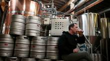 Sourcing organic ingredients for beer is a challenge, says Mill Street brewmaster Joel Manning. (DAVE CHAN/Dave Chan for The Globe and Mail)