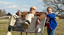 Johnny Knoxville, in prosthetic makeup, plays 86-year-old Irving Zisman, a bit character from earlier Jackass films.