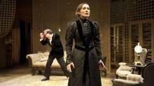 Moya O'Connell delivers a fine, fiery Hedda Gabler in Martha Henry's production of Ibsen domestic drama. (Emily Cooper)