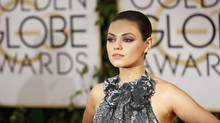 Actress Mila Kunis arrives at the 71st annual Golden Globe Awards in Beverly Hills, California January 12, 2014. (MARIO ANZUONI/REUTERS)