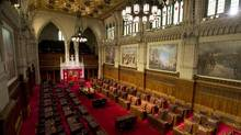 The Senate chamber is seen Thursday April 24, 2014 in Ottawa. The Supreme Court of Canada will render a decision on the Senate Friday. (Adrian Wyld/THE CANADIAN PRESS)