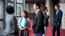A new global alumni survey found many business schools receive poor grades on their promise to connect students after graduation, with just one in five respondents 'definitely agreeing their school has a strong alumni network.' (Getty Images)