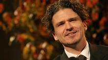 Dave Eggers speaks after being presented with the Literarian Award for Outstanding Service to the American Literary Community at the National Book Awards Wednesday Nov. 18, 2009 in New York. (Tina Fineberg/The Associated Press)