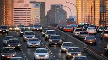 Rush hour traffic heading west on the Gardiner Expressway in Toronto. (Moe Doiron/Moe Doiron/The Globe and Mail)