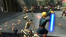 One-to-one motion control of a lightsabre is the highlight of Kinect Star Wars. (LucasArts)