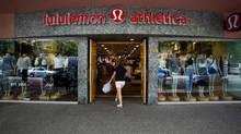 Declining sales, inventory problems, too-sheer pants, unfortunate comments about certain customers' body shape all made for too much bad news for former hot growth stock Lululemon Athletica. (BEN NELMS/REUTERS)