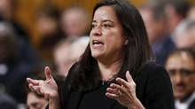 Canada's Justice Minister Jody Wilson-Raybould speaks during Question Period in the House of Commons. (FILE PHOTO). (CHRIS WATTIE/REUTERS)