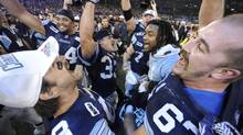 The Toronto Argonauts celebrate their Grey Cup win over the Calgary Stampeders at the Rogers Centre in Toronto.<252> (Fred Lum/The Globe and Mail)