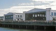 A historical photo shows hangars 5 and 6 fronting on to Jericho wharf (Al Clapp/Lindsay Brown/Al Clapp/Lindsay Brown)
