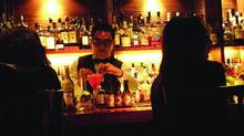 Butler, a lounge routinely ranked as one of Hong Kong's best places to enjoy a tipple, is a cozy Japanese-inspired 20-seat den where showmanship is key. (Dawn Walton)