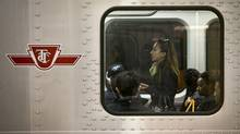 Commuters ride a TTC subway west from Kennedy Station in Scarborough on Sept. 25, 2013. (Kevin Van Paassen/The Globe and Mail)