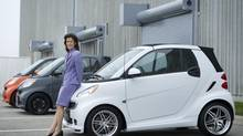 Annette Winkler, global head of Smart, says the mini-car is attractive to urbanites. (Kevin Van Paassen/The Globe and Mail)