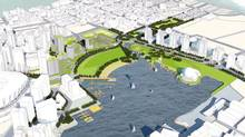 Image from the proposal by Larry Beasley, Jim Green, Norm Hotson and Margot Long to transform the viaduct area of East Vancouver.