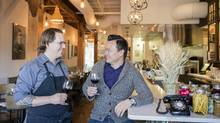 Executive chef Jason Barton-Browne, left, and general manager James Hoan-Nguyen have made the Hayloft Restaurant in Airdrie a destination. (Chris Bolin for the Globe and Mail)