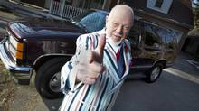 Don Cherry poses in front of his old 1997 Yukon on March 14, 2013. Mr. Cherry is speaking out on Twitter about a court verdict that will send a man who killed a Toronto police officer with a snowplow to a psychiatric hospital instead of prison. (Peter Power/The Globe and Mail)