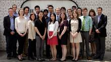 Globe and Mail editorial interns, with senior editors. (Moe Doiron/The Globe and Mail)