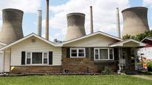 Donald Trump defends businesses such as this coal-fired power plant in West Virginia. (ROBERT GALBRAITH/REUTERS)