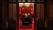 A Senate clerk waits for the start of Question Period in the chamber of the Senate June 04, 2013 on Parliament Hill in Ottawa. (Dave Chan For The Globe and Mail)