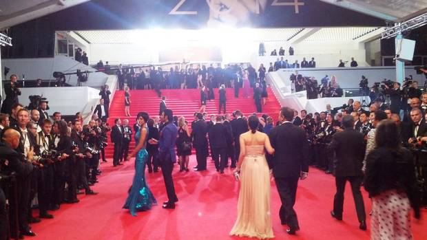 Walking the red carpet to the premier of Relatos Salvajes.