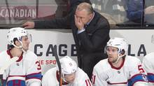 Montreal Canadiens head coach Michel Therrien watches the play during second period National Hockey League action against the Boston Bruins on Tuesday, January 19, 2016 in Montreal. (Ryan Remiorz/THE CANADIAN PRESS)