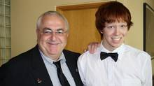 Ottawa city councillor Allan Hubley poses with his son Jamie in this family photo released on Monday Oct. 17, 2011. (THE CANADIAN PRESS/Handout/THE CANADIAN PRESS/Handout)