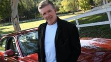 Actor Alan Thicke poses for photographs with his 2008 Jaguar XJ outside his home in Carpinteria, Dec. 1, 2011. (Ann Johansson for The Globe and Mail)