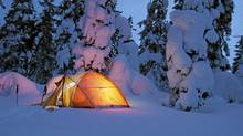 Winter camping in Strathcona Park, near Mount Washington, Vancouver Island. (Darryl Leniuk)