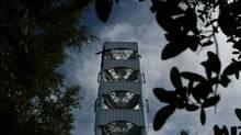 A cell tower disguised as a bell tower sits at George Young United Methodist Church in East Lake, Fla. (CARRIE PRATT/CARRIE PRATT/ASSOCIATED PRESS)