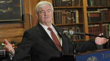 Newt's Catholicism gets a pass? (Peter Foley/Bloomberg)