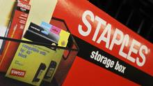 Product in a Staples outlet in Boston. (Lisa Poole/AP)