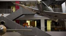 The newly transformed atrium at the Imperial War Museum in London. (Matt Dunham/AP)
