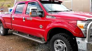 Hugh Rowland's Ford F-350 pickup truck
