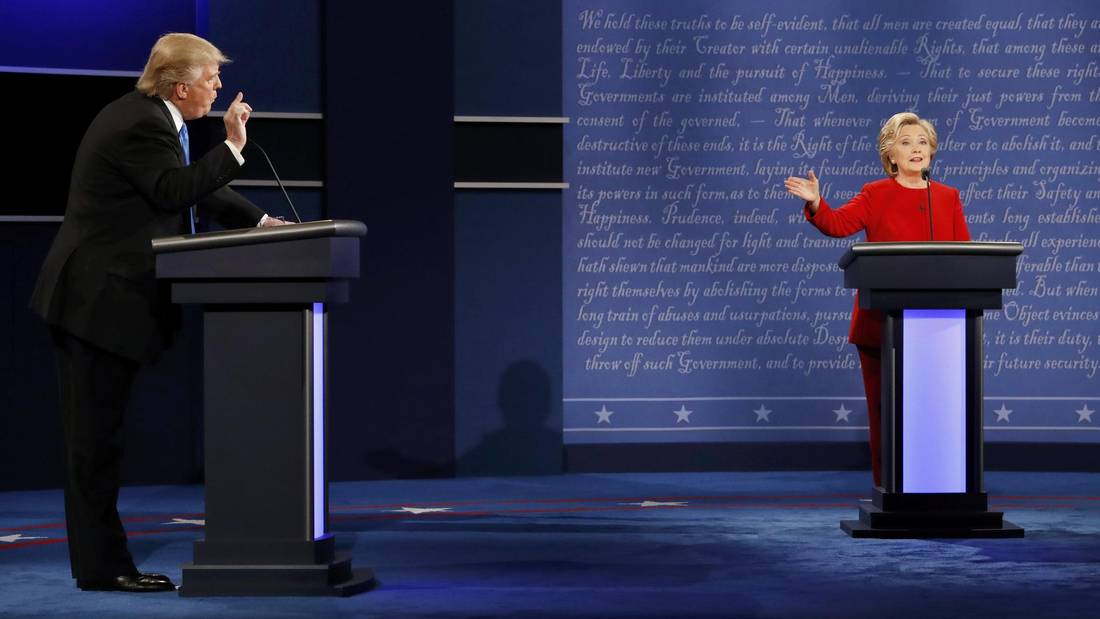 Image result for DONALD TRUMP AND HILLARY CLINTON'S FIRST PRESIDENTIAL DEBATE