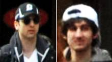 New images of the Boston Marathon bombing suspects released by the FBI early Friday.