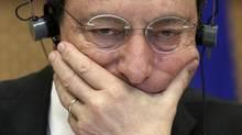 European Central Bank (ECB) President Mario Draghi. (YVES HERMAN/REUTERS)
