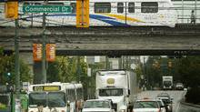 The Vancoiuver region's 22 mayors are seeking solutions for both a short-term fix to TransLink funding, starting next year, and a much more ambitious permanent restructuring of funding for the billion-dollar-a-year agency. (John Lehmann/The Globe and Mail/John Lehmann/The Globe and Mail)