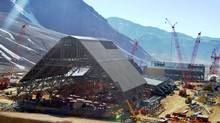 Barrick Gold Corp.'s Pascua-Lama project facilities in northern Chile. Profits at the world's largest mining companies tumbled 49 per cent last year, according to a PricewaterhouseCoopers' report. (HANDOUT/BARRICK GOLD)