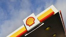 The Shell logo is seen at a petrol station in west London in this Jan. 29, 2015, file photo. (Toby Melville/Reuters)