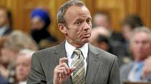 Treasury Board President Stockwell Day speaks during Question Period in the House of Commons on April 13, 2010. (Chris Wattie/Reuters/Chris Wattie/Reuters)