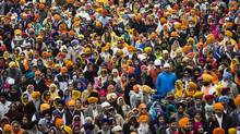 The Sikhs Khalsa Day Parade in Toronto on April 26, 2015. Mewa Singh has been lionized by Canada's Sikh community in the same way Louis Riel has been by the country's Metis population. (Mark Blinch for The Globe and Mail)