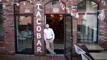Stefan Hartmann, the new executive chef of Tacofino, stands on the patio outside the Tacofino in Gastown in Vancouver April 11, 2017. (Jeff Vinnick/Jeff Vinnick/The Globe and Mail)