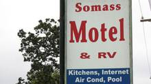 Sign for the Somass Hotel in Port Alberni, B.C. (huffingtonpost.com/The Globe and mail/huffingtonpost.com/ The Globe and Mail)