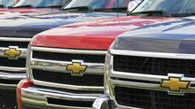 Light truck purchases in Canada fell 4 per cent below a year earlier, undercut by rising gasoline prices, the Scotiabank report said. (Andrew Vaughan/The Canadian Press)