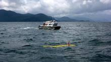 Researchers probe the ocean floor in Juan Perez Sound with UVic's AUV. The team will soon use a remote vehicle to dig for artifacts (THE CANADIAN PRESS)