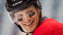 Ottawa Senators' Jason Spezza wears eye black during practice for the Heritage Classic NHL game at B.C. Place stadium in Vancouver, B.C., on Saturday March 1, 2014. (DARRYL DYCK/THE CANADIAN PRESS)