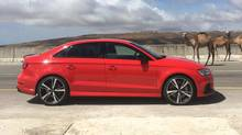 The Audi RS3 driven in the Salalah Oman. (MATT BUBBERS for THE GLOBE AND MAIL)