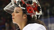 Goalie Shannon Szabados has returned to the Canadian women's hockey from a men's pro league. (Petr David Josek/THE ASSOCIATED PRESS)