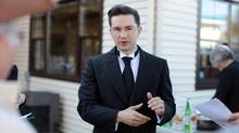 Minister of State (Democratic Reform) Pierre Poilievre. (Dave Chan For The Globe and Mail)